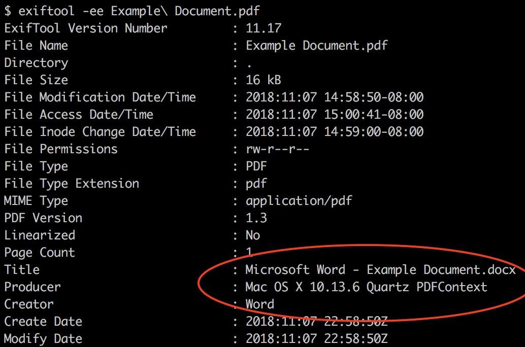 PDF metadata example